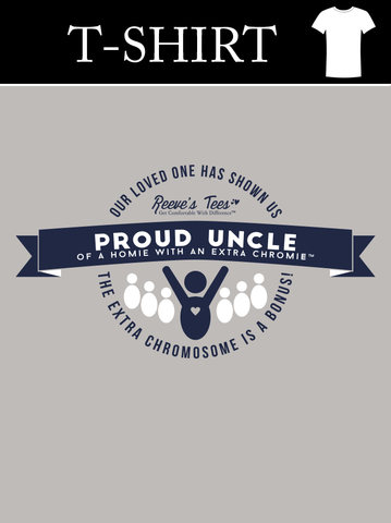 Proud Uncle of a Homie with an Extra Chromie - Men's Short Sleeve - Heavy Cotton Tee Light Gray
