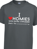 I Love Homies with Extra Chromies® - Youth - Short Sleeve Tee