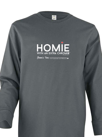 Homie with an Extra ChromieTM - Youth - Long Sleeve - Colored Tee