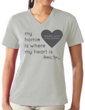 HWEC - Matching Tees - My Homie is Where My Heart Is (SUPPORTERS) - Ladies - Short Sleeve V-neck Tee