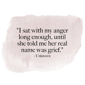 Thoughts on Anger and Grief