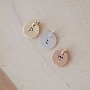 Hand Stamped Charm: No Necklace Chain