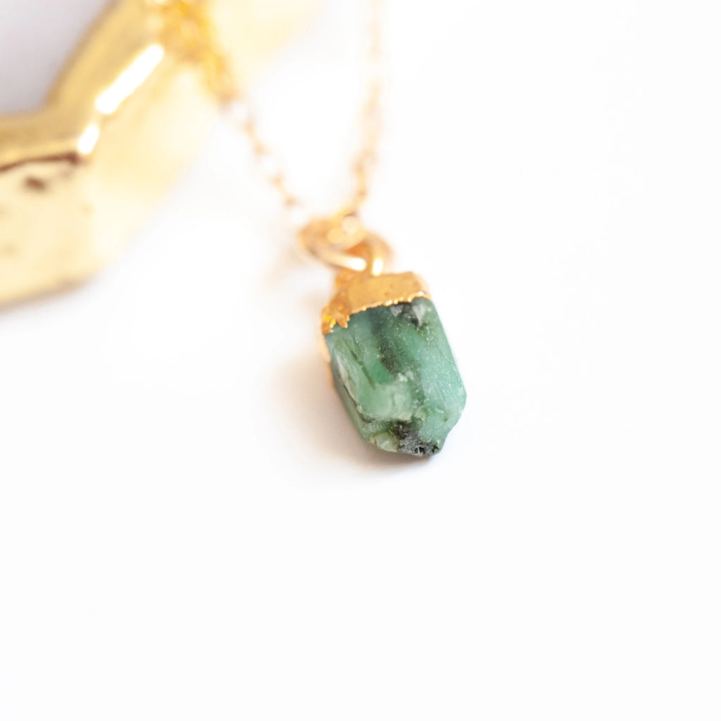 Raw Cut Birthstone Necklace