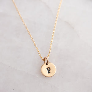 Child Size Wear My Initial Necklace