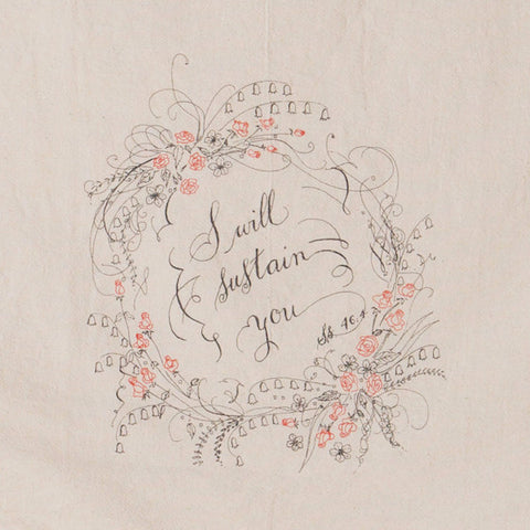 I Will Sustain You Tea Towel