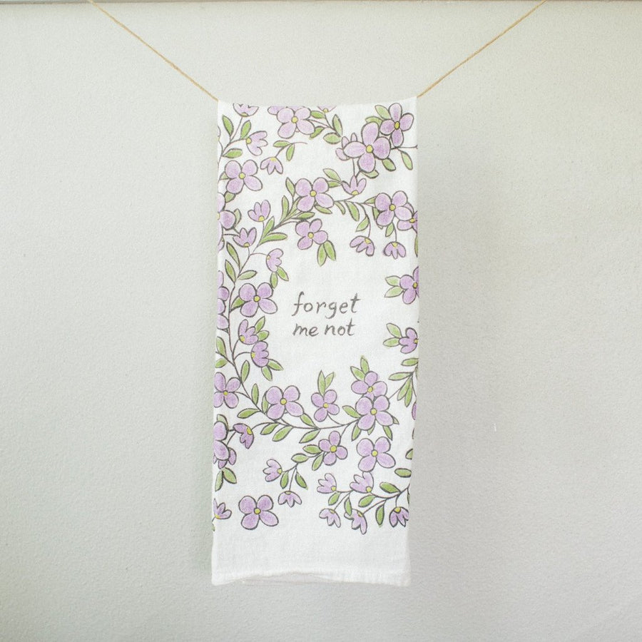 Forget Me Not Tea Towel