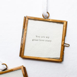 Great Love Story Frame Ornament