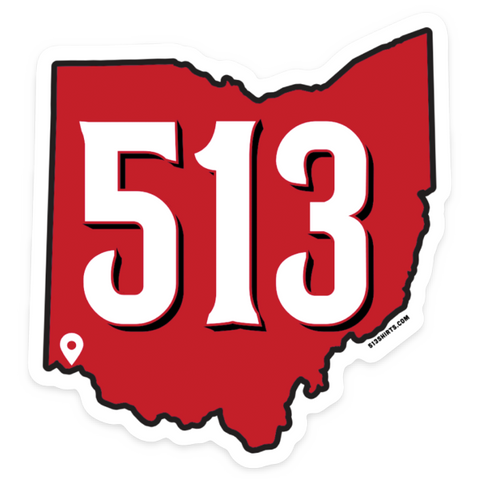 513 Baseball sticker - 513shirts.com / Cincinnati Shirts