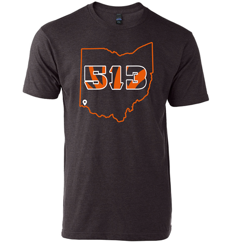513 Football tee - 513shirts.com / Cincinnati Shirts