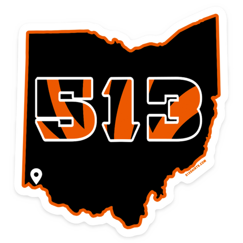 513 Football sticker - 513shirts.com / Cincinnati Shirts