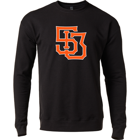 513 Monogram crewneck sweatshirt - black/orange - 513shirts.com / Cincinnati Shirts