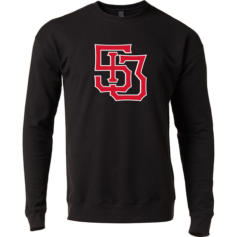 513 Monogram crewneck sweatshirt - black/red - 513shirts.com / Cincinnati Shirts