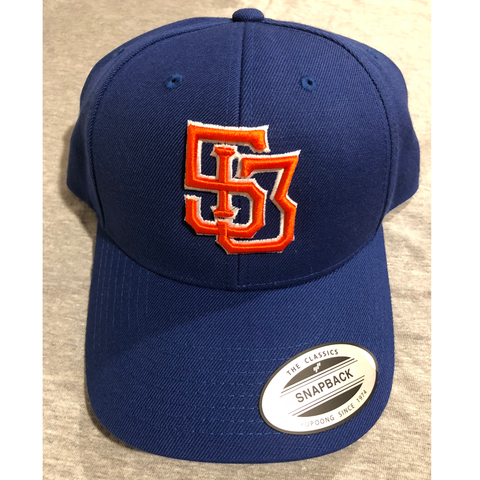 513 Monogram hat - royal/orange - 513shirts.com / Cincinnati Shirts