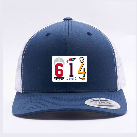 614 Columbus area code retro trucker hat - 513shirts.com / Cincinnati Shirts