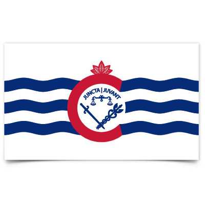 City of Cincinnati flag sticker - 513shirts.com / Cincinnati Shirts
