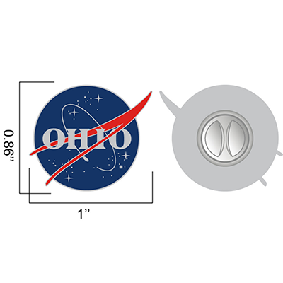 OHIO space agency lapel pin