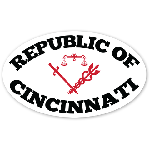 Republic of Cincinnati sticker - 513shirts.com / Cincinnati Shirts