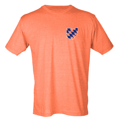Bavarian Ohio tee - heather orange - 513shirts.com / Cincinnati Shirts - 1