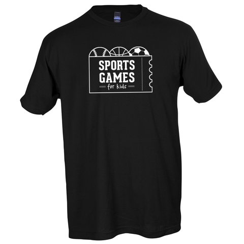 Sports Games for Kids logo tee - black - 513shirts.com / Cincinnati Shirts