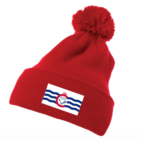 City of Cincinnati flag pom pom beanie - 513shirts.com / Cincinnati Shirts
