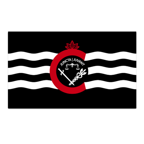 City of Cincinnati flag sticker (black) - 513shirts.com / Cincinnati Shirts