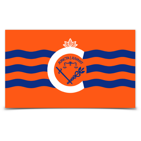 City of Cincinnati flag sticker (orange) - 513shirts.com / Cincinnati Shirts