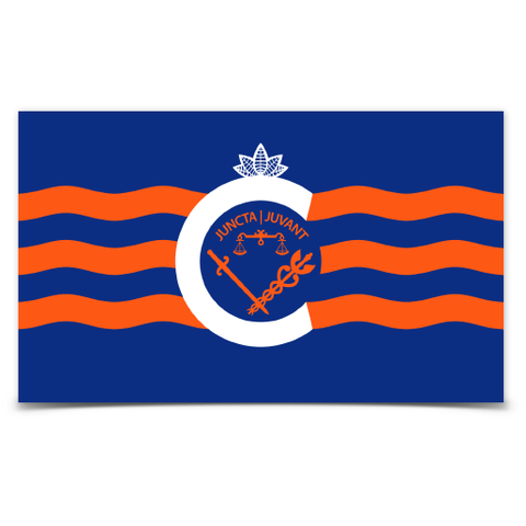 City of Cincinnati flag sticker (royal blue) - 513shirts.com / Cincinnati Shirts
