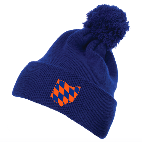 Diamond Ohio pom pom beanie