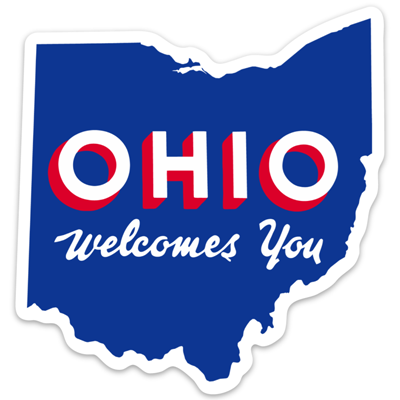 Ohio Welcomes You sticker - 513shirts.com / Cincinnati Shirts