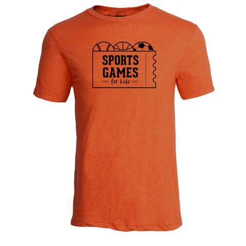 Sports Games for Kids logo tee - heather orange - 513shirts.com / Cincinnati Shirts