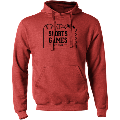 Sports Games for Kids logo hoodie - heather red