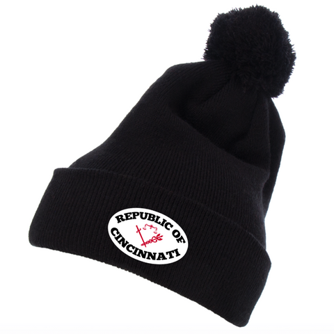 Republic of Cincinnati beanie - black - 513shirts.com / Cincinnati Shirts