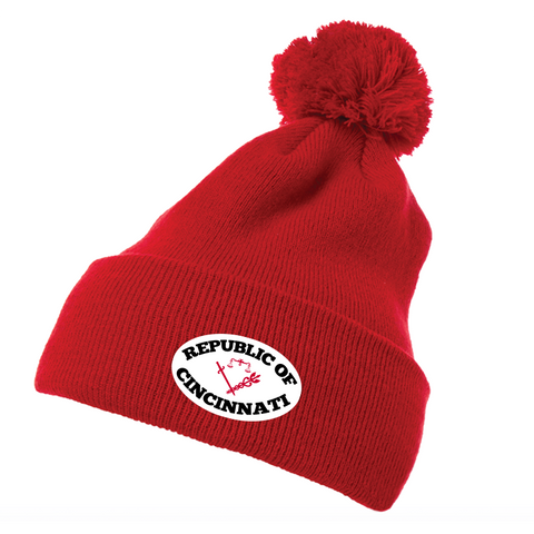 Republic of Cincinnati beanie - red - 513shirts.com / Cincinnati Shirts