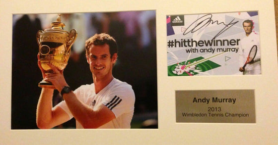 Andy Murray Genuine Hand Signed Autograph Photo Display Mount Wimbledon 2013