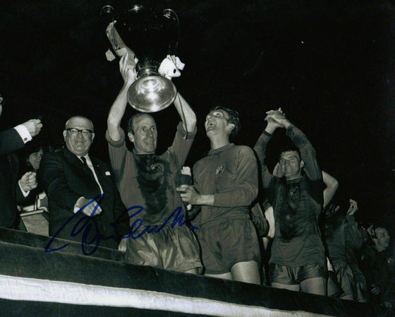 Bobby Charlton Genuine Hand Signed 10X8 Photo MANCHESTER UNITED (1171)