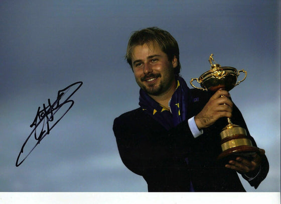 Victor Dubuisson Original Hand Signed Autograph 12X8 Photo 2014 RYDER CUP (3156)