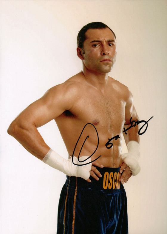 Oscar De La Hoya GENUINE HAND SIGNED 12X8 Photo World Champion