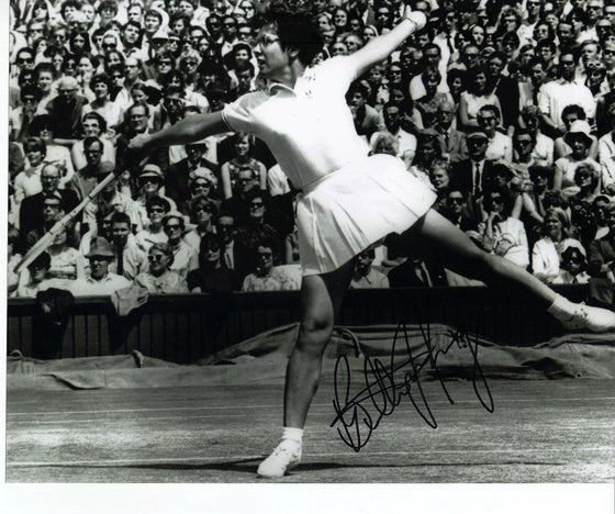 Billie Jean King Signed Autograph In Person 10X8 Photo Action Shot