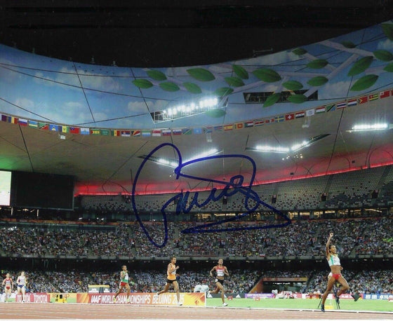 Genzebe Dibaba SIGNED 10X8 Photo GENUINE RIO Olympic Games AFTAL COA (B)