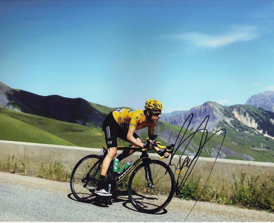 Bradley Wiggins Signed 10X8 Photo 2012 Tour de France AFTAL COA (D)