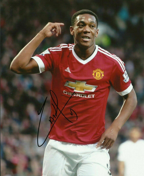 Anthony Martial Genuine Signed 10X8 Photo MANCHESTER UNITED AFTAL COA (1153)