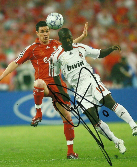 Clarence Seedorf Signed 10X8 Photo Genuine Autograph A.C. Milan AFTAL COA (1277)