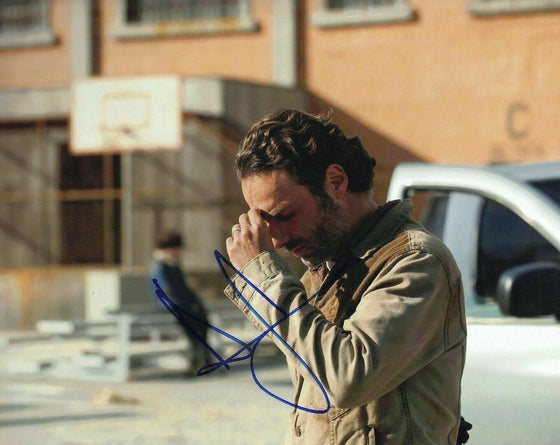 Andrew Lincoln Signed 10X8 Photo Walking Dead GENUINE SIGNATURE AFTAL COA (5603)
