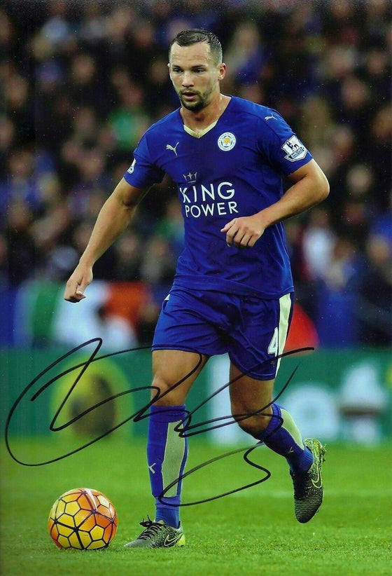 Danny Drinkwater Signed 12X8 Photo Leicester City F.C. Genuine COA AFTAL (1732)