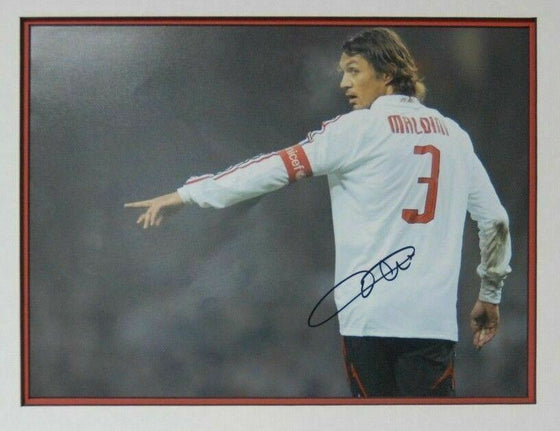 Paolo Maldini Signed 16X12 Mounted Photo AC Milan & ITALY AFTAL COA (D)