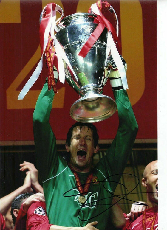 Edwin Van Der Sar Genuine Signed Autograph 12X8 Photo Manchester United (1858)