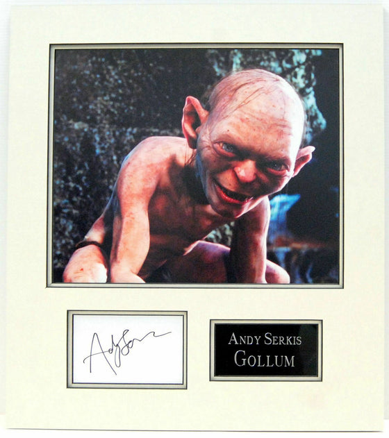 Andy Serkis Genuine Hand Signed Photo Mount Display LORD OF THE RINGS GOLLUM (A)