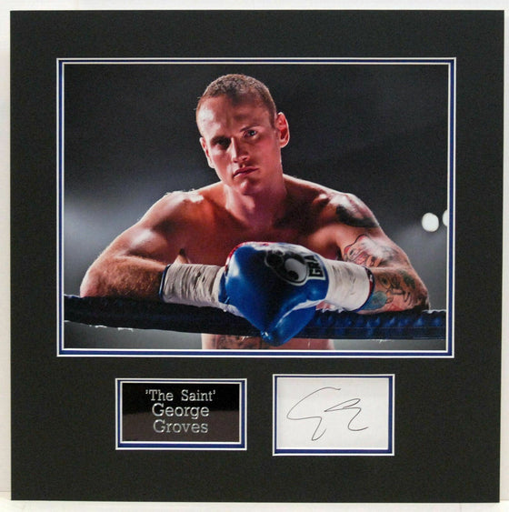 George Groves GENUINE HAND SIGNED PHOTO MOUNT DISPLAY (E)