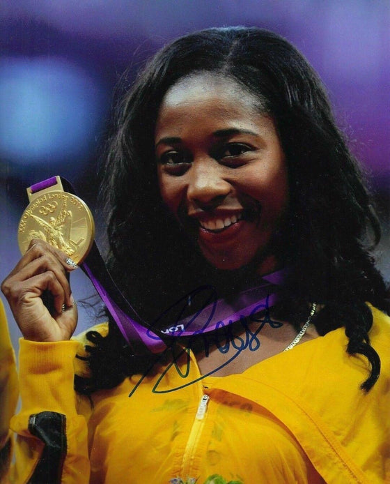 Shelly-Ann Fraser-Pryce SIGNED 10X8 Photo GENUINE Olympic Games AFTAL COA (B)