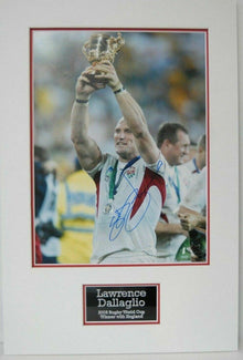 Lawrence Dallaglio Signed 16X12 Photo Mount Display AUTOGRAPH ENGLAND RUGBY (C)
